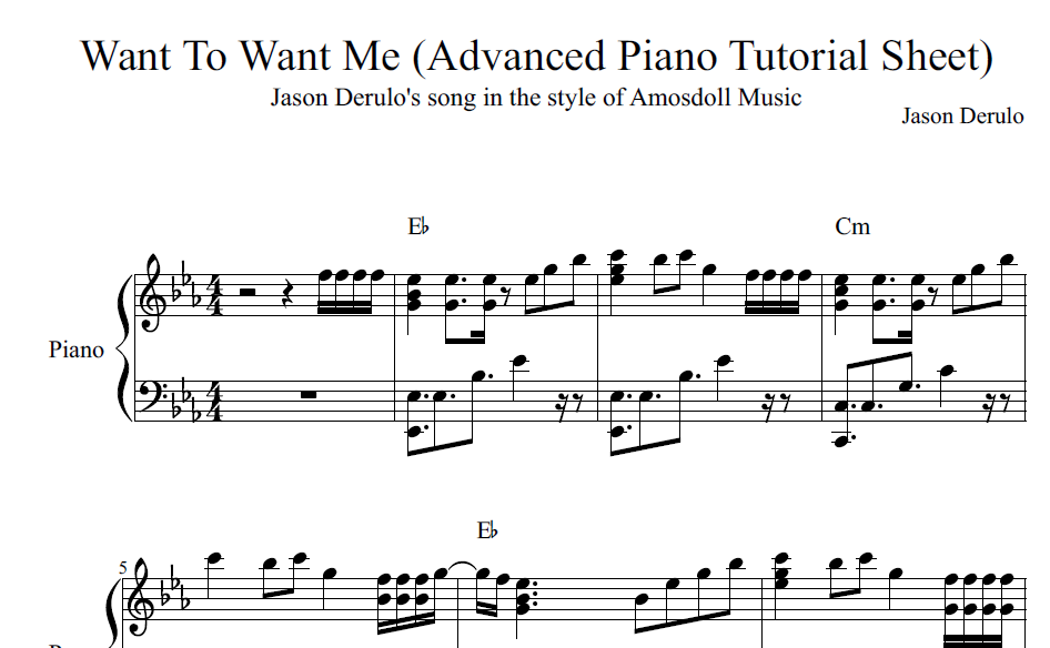 All Music Chords anime sheet music : BestPianoMethod.com - Amosdoll Official Piano Mentoring — Best ...